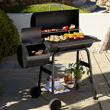 60cm Barrel Grill With Smoker