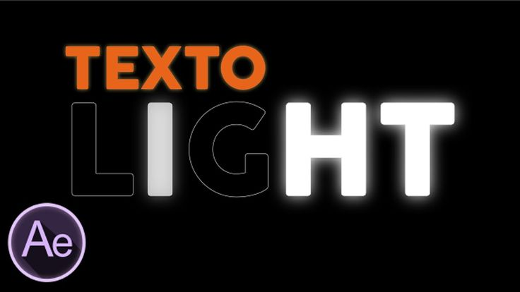 Texto LUMINOSO After Effects Tutorial