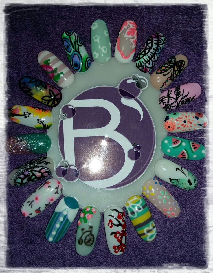 Spring Nail Art Wheel - Designs chosen by clients ♡ @Bubz_NailBar