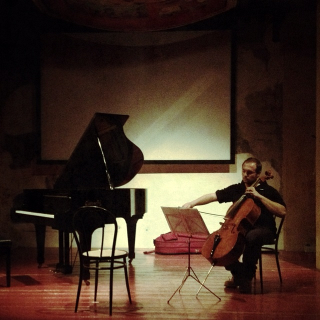 Taken right before last week concert. This is the ideal set. Cello is played br Francesco Fezzardi.