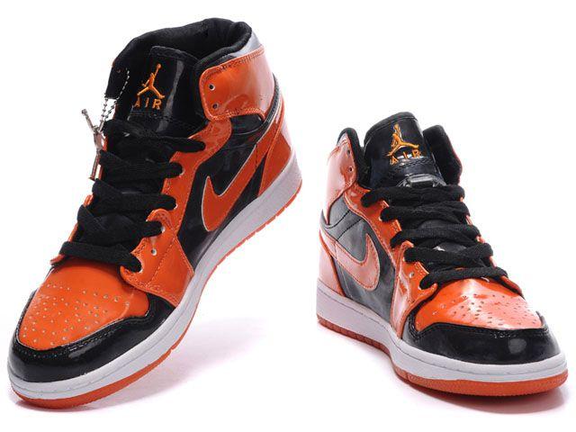 Nike Air Jordan Noir Et Orange