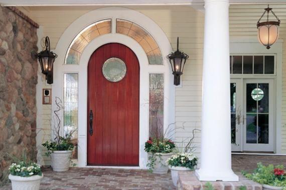 Choosing an exterior door entrance doors circles and for Fiberglass doors pros and cons