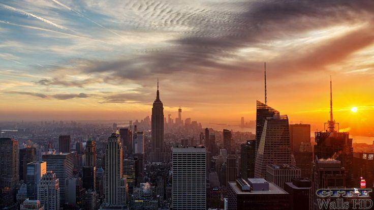 Wallpaper auf Ihrem Desktop mit einem sehr freundlichen und mächtigen Stadt New York.