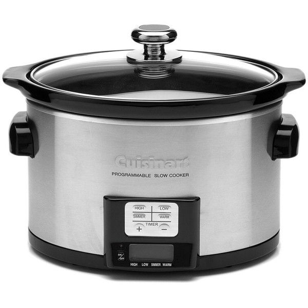 Cuisinart 3.5Qt Programmable Slow Cooker (490 SEK) ❤ liked on Polyvore featuring home, kitchen & dining, small appliances, multicolor, programmable crock pots, cuisinart slow cooker, cuisinart crock pot, cuisinart and programmable crockpot