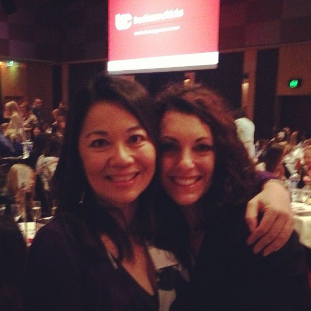 """@Valerie Khoo's photo: """"With the gorgeous @Kerri Sackville at #businesschicks lunch with Candace Bushnell."""""""