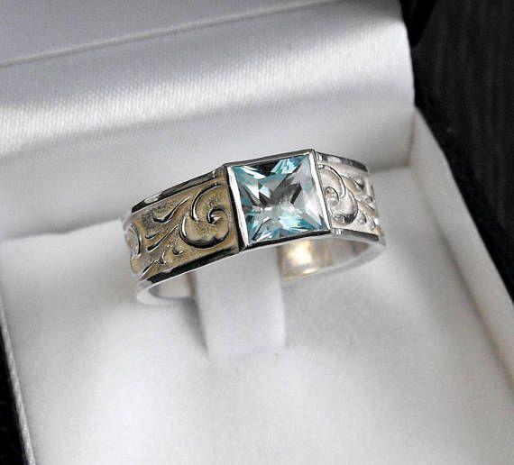 Anello di colore in argento 925 o in oro bianco 18 Kt con