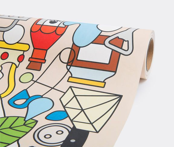 'Alt Deutsch' wallpaper by Studio Job for NLXL. In 2014, Dutch duo Studio Job created seven different wallpapers for NLXL by adapting various themes and illustrations from its archives. An ode to the beauty of old Frankish furniture, this 'Alt Deutsch' design initially appeared on a range of hand-painted furniture, produced by Moooi in 2012. It features the neo-gothic lines and complex use of bold, colourful symbols Studio Job has become known for. Shop it now at www.store.wallpaper.com