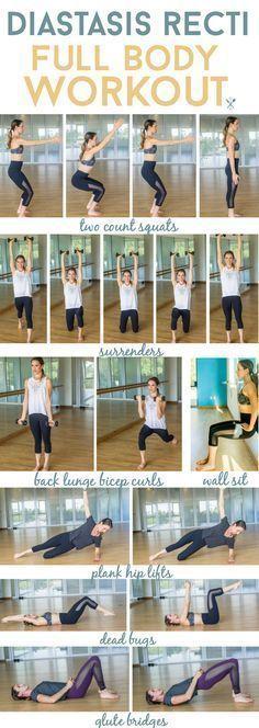 Diastasis Recti Full Body Workout This diastasis recti full body workout is perf…