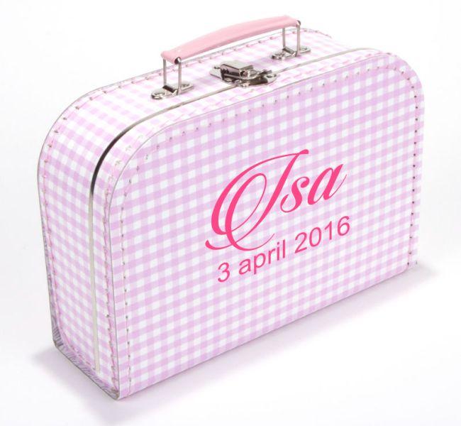 Koffertje naam en datum isa