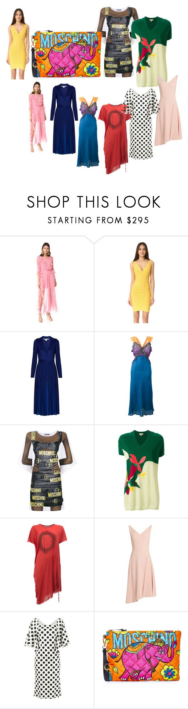 """big sale offer"" by denisee-denisee ❤ liked on Polyvore featuring Preen, Hervé Léger, Diane Von Furstenberg, Attico, Moschino, Delpozo, Lost & Found, Osman, Dolce&Gabbana and vintage"