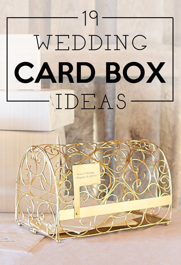 The card box is one of the first things your guests will see and is the perfect opportunity to add a pretty or fun decorative piece into your wedding decor. These 19 wedding card box ideas are sure to inspire and spark the imagination. See them all at http://blog.myweddingreceptionideas.com/2016/01/19-wedding-gift-card-box-ideas.html