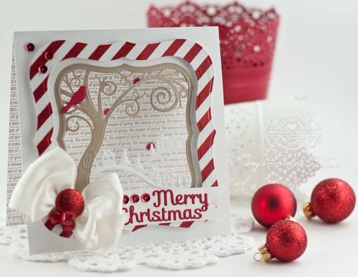Card Making Ideas Using Dies Part - 48: Christmas Card Making Ideas By Becca Feeken Using Spellbinders Picture  Perfect And Holiday Sentiments - Www