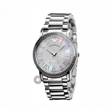 Γυναικείο fashion quartz ρολόι του οίκου EMPORIO ARMANI με καντράν από mother-of-pearl και μπρασελέ | Ρολόγια EMPORIO ARMANI ΤΣΑΛΔΑΡΗΣ στο Χαλάνδρι #Emporio #Armani #ατσαλι #μπρασελε #ρολοι
