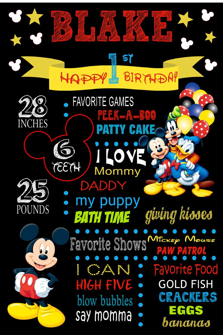 mickey mouse milestone poster