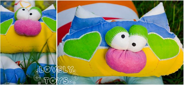 Lovely stitch: Ленивый кот и сумка.
