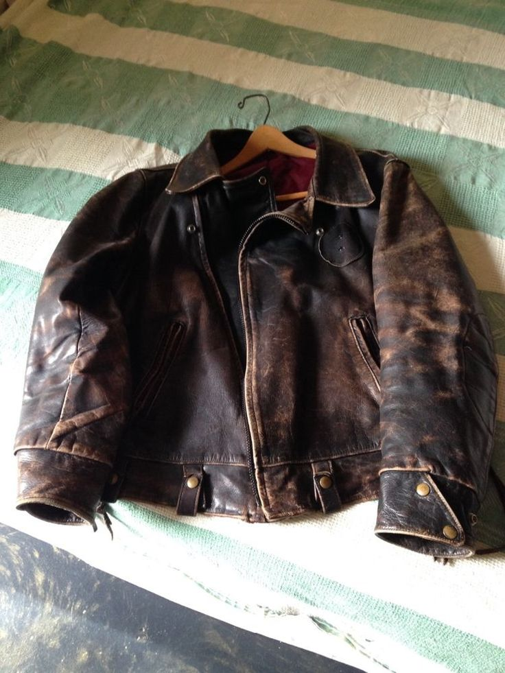 Leather Motorcycle Police  Jacket Vintage #DomesticmadeinUSA #Motorcycle