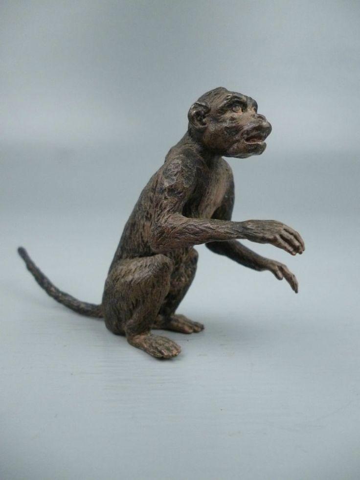 Antique Signed Bergmann Cold Painted Austrian Bronze Monkey Vienna Figure BR