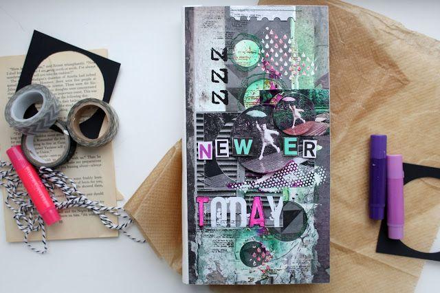 IDEAлистка by Strelkova: NeWEr Today - миник в стиле микс-медиа