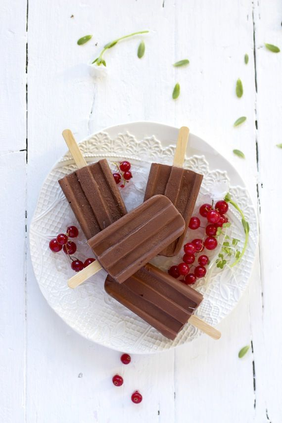 Helado de chocolate, paletas de chocolate caseras