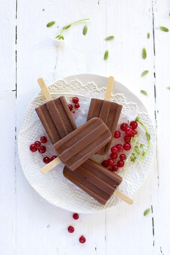 Chocolate popsicles  foodandcook.net