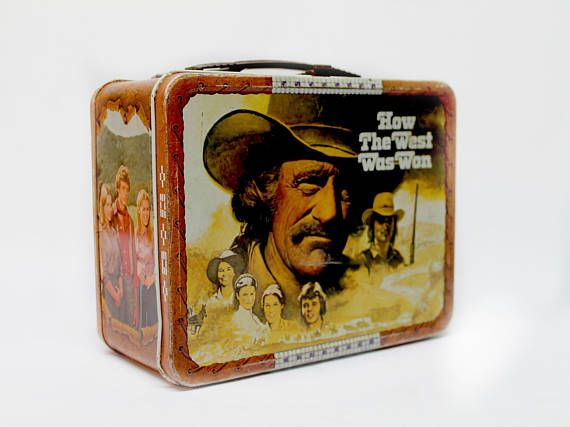 1978 How the West was Won TV show metal lunch box by Thermos