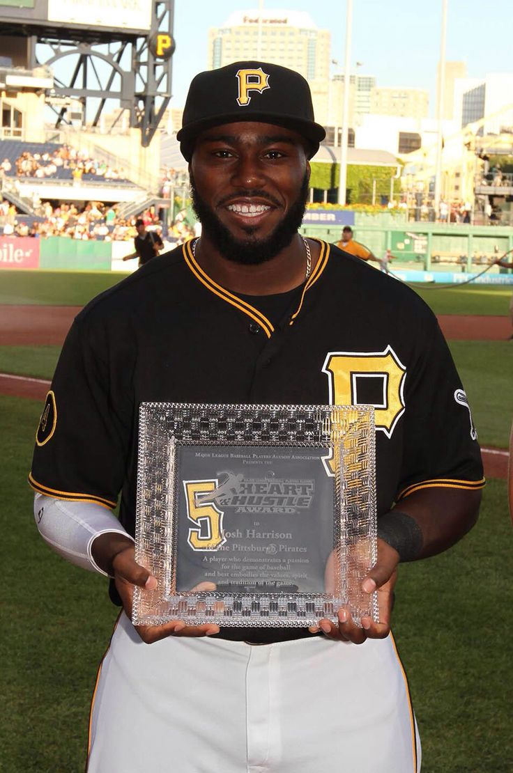Josh Harrison Heart and Hustle award. What a game tonight. That man does everything!!