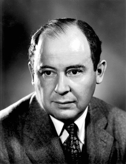 John von Neumann; developed the first numerical weather simulation program on ENIAC
