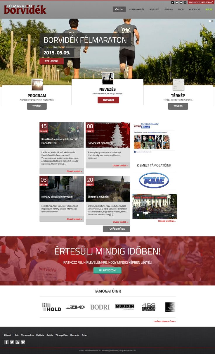 Borvidék félmaraton (2015, webdesign, sitebuilding, responsive, WordPress dev)