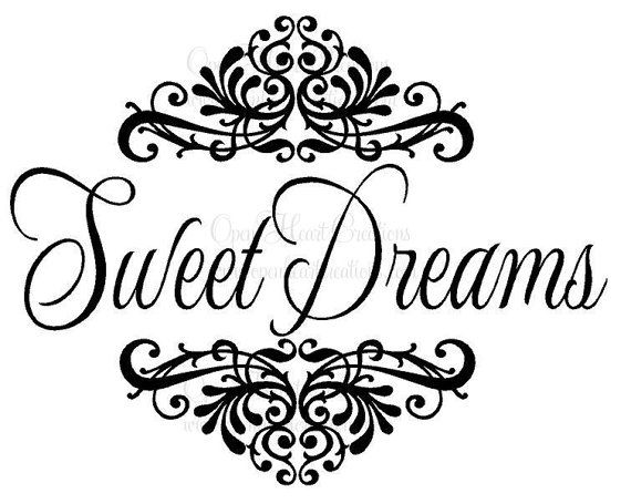 Sweet Dreams Baby Wall Decal with Shabby by openheartcreations