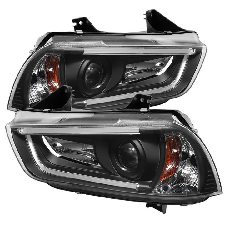 Spyder 2011-2014 Dodge Charger Projector Headlights (Factory Xenon Model Only) - Black - Set of 2 (PRO-YD-DCH11-LTDRL-HID-BK)