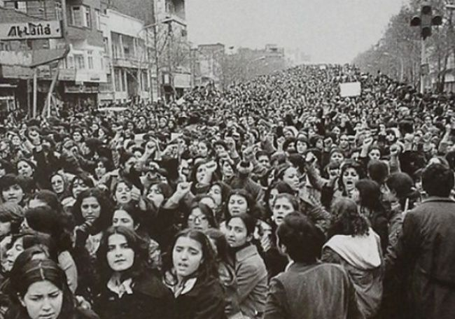 Women protest, Islamic Revolution: Women protesting against the forced wearing of the hijab in Iran after the Islamic Revolution, 1979. Unfortunately, we all know how that turned out…