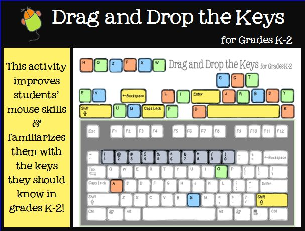 In this Microsoft Word activity, students become more familiar with the keys they should know in grades K-2 by dragging characters to their correct position on the keyboard.