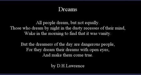 Dreams, D.H. Lawrence