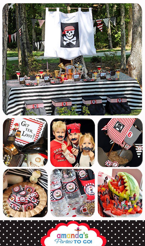 Pirate Party Cupcake Topper von AmandasPartiesToGo auf Etsy