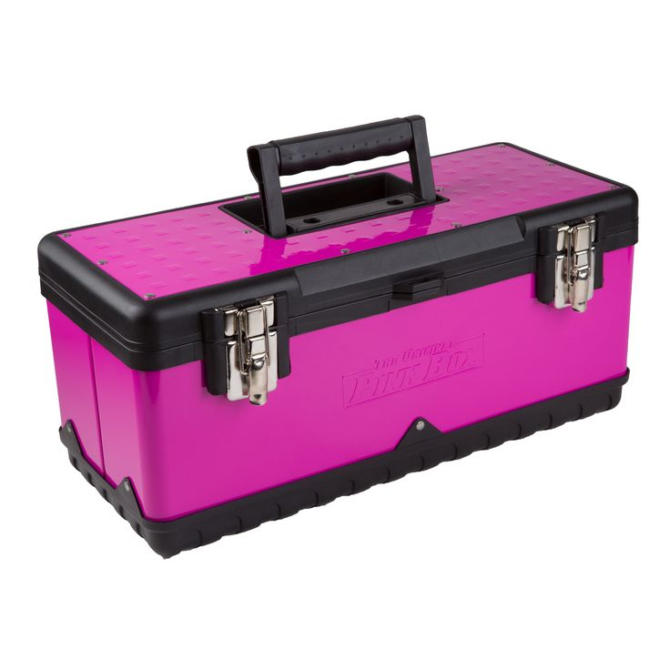 "The Original Pink Box 20"" Steel Tool Box, Pink"