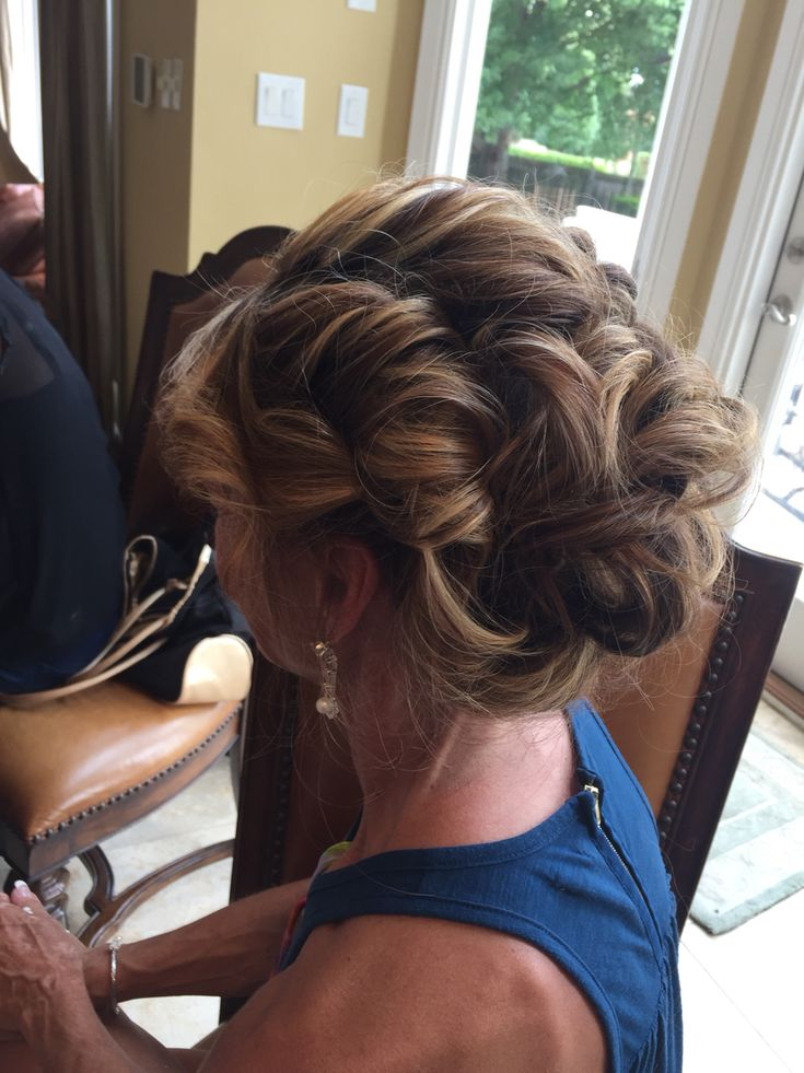 Mother Of The Bride Curly Updo Hair By Olivia
