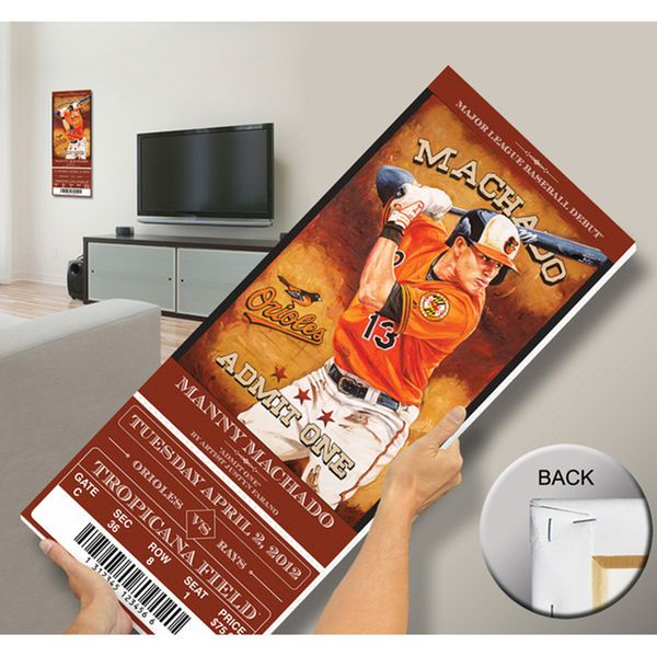 Manny Machado Baltimore Orioles Artist Series Mega Ticket - $109.99