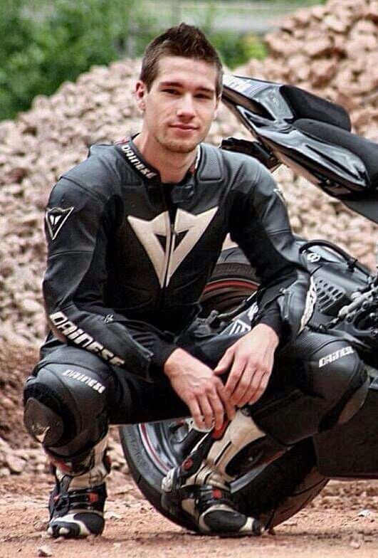 Sexy men in biker leather