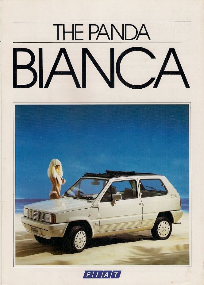 Fiat Panda 45 Bianca Limited Edition 1985 UK Market Sales Brochure | eBay