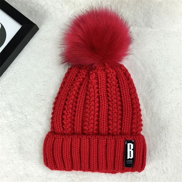 For Sale $5.55, Buy 2017 women hat the hundreds Brand New High-Quality women winter mink The Ball ski rabbit hat pom poms knitted hats made of