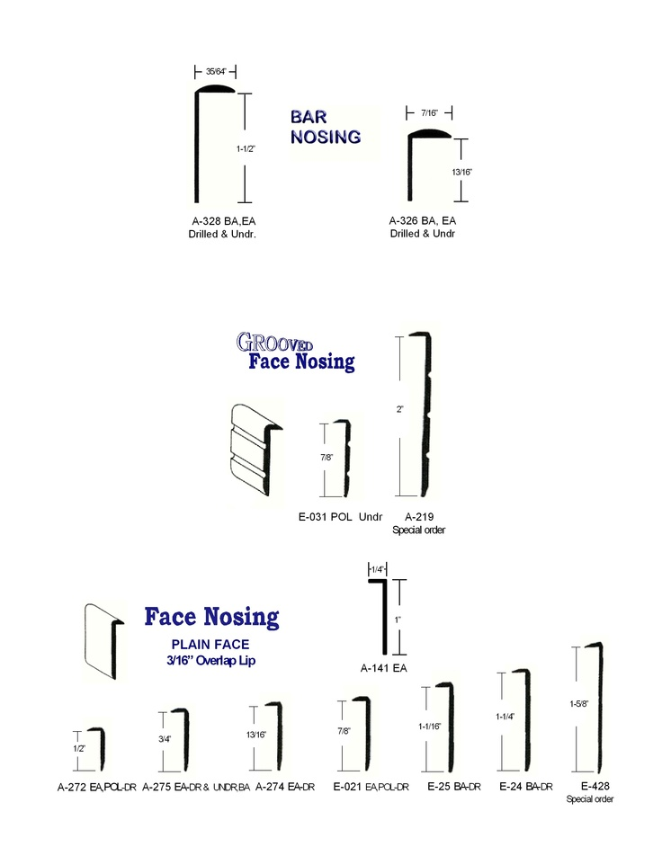 Metal counter trim//Bar and Face Nosing : Z Bars : Eagle