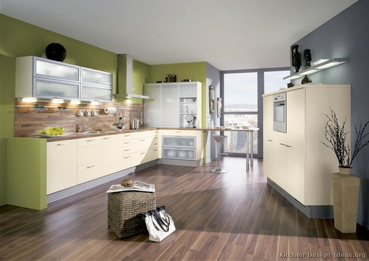 Modern Kitchen Wall Colors cool color scheme. #kitchen idea of the day: modern cream-colored