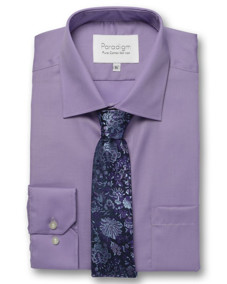 Luxury Paradigm by Double TWO 100% Cotton, kind to skin, non-iron and wrinkle free for the perfect working day #Purple #Non-Iron #WrinkleFree #MensShirts