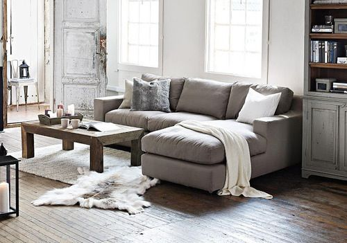 i soo badly want a l-shaped couch. And this one is such a cute size!