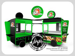 Jasa Desain Logo Kuliner |  Desain Gerobak | Jasa Desain Gerobak Waralaba: Desain Gerobak Dorong Kebab Umi Lizan