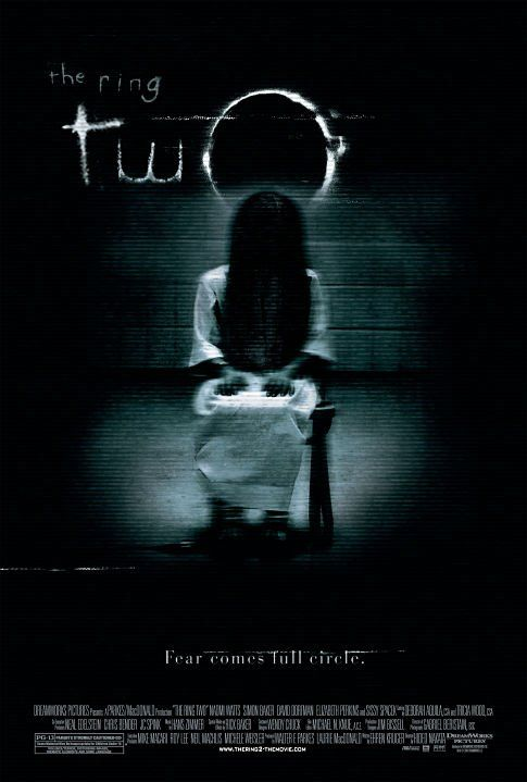 """The Ring 2 (2005) (US)   Director:  Hideo Nakata (Was a mistake to have the original Japanese director remake a US version of his own movie. Gore Verbinski did a lot better with the US remake of The Ring 1, which was a very good movie/remake.)  The 16 min short film """"Rings (2005) (V)"""" is even better than Ring 2 imo.   Cast: Naomi Watts, Simon Baker, David Dorfman, Elizabeth Perkins, Sissy Spacek"""