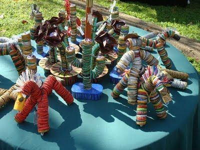 recycled bottle cap creations