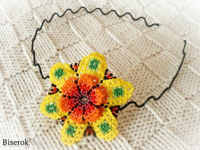 Bead PATTERN Flower Huichol style