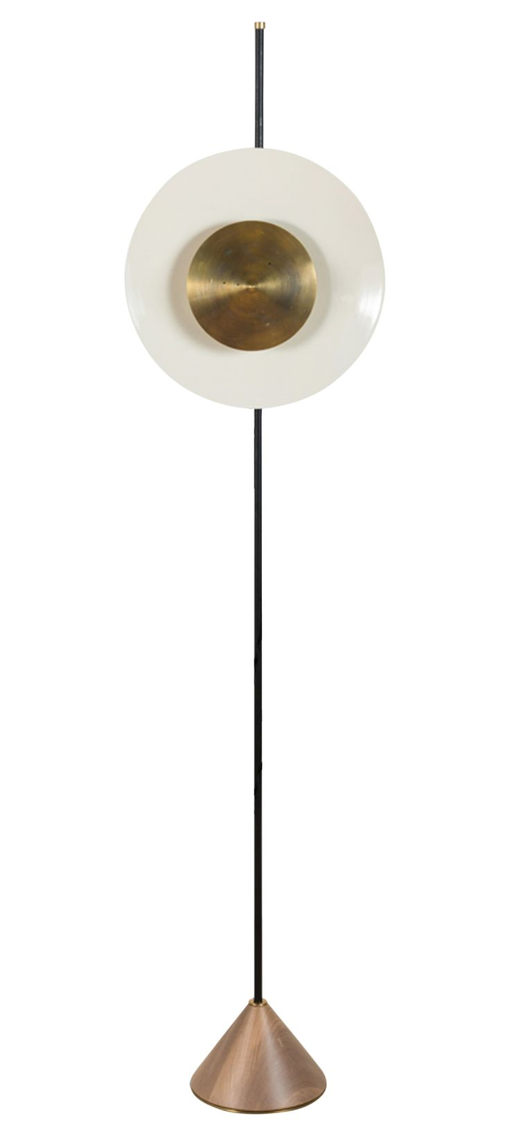Pruckel Floor Lamp  Contemporary, Industrial, Transitional, Metal, Wood, Floor Lamp by Lawson Fenning