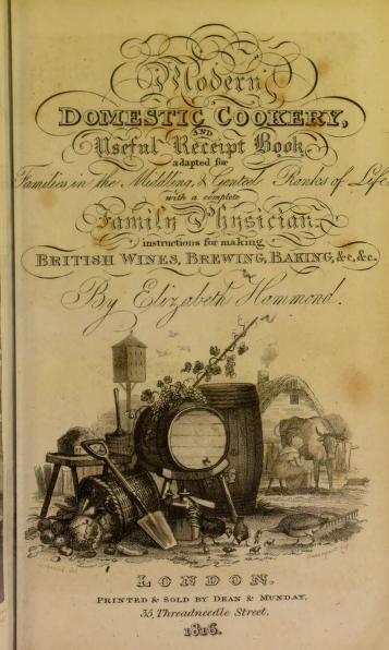 1815 Modern Domestic Cookery & Useful Receipt Book - Hammond, Elizabeth